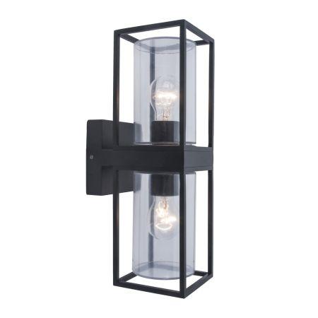 Lutec Flair Up & Down Wall Light Matt Black | 5288804012