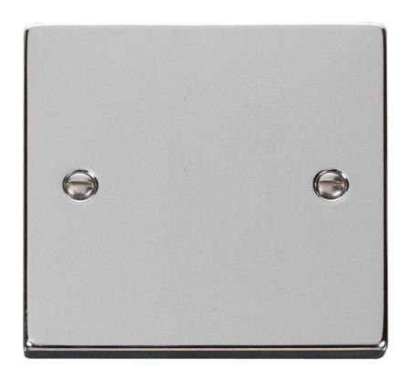 Click Deco Polished Chrome 1 Gang Blank Plate VPCH060