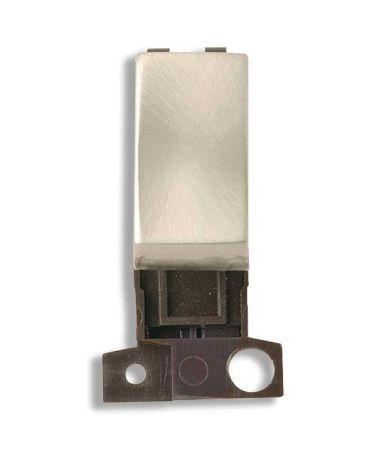 Click MiniGrid 2 Way 10AX Ingot Brushed Steel Switch Module