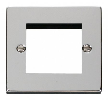Click Deco Twin Aperture Polished Chrome Unfurnished New Media Plate VPCH311