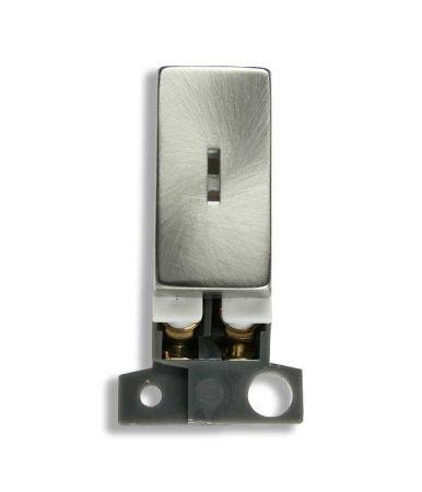 Click MiniGrid 10AX 2 Way Brushed Steel Keyswitch Module