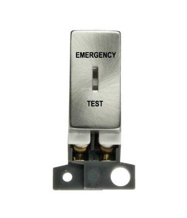 10AX DP Ingot Keyswitch Emergency Test - Brushed Steel