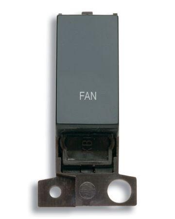 13A Resistive 10AX Black Switch Module - Fan