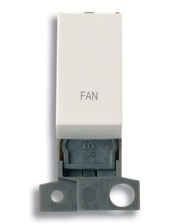 """13A Resistive 10AX Switch Module - White - """"Fan"""""""