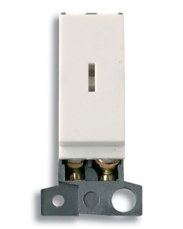 Click MiniGrid 2 Way 10AX Polar White Key Switch Module