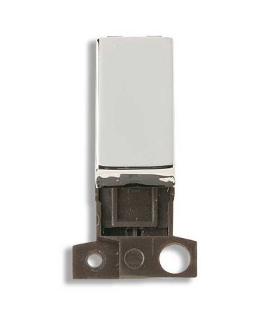 Click MiniGrid 2 Way 10AX Ingot Polished Chrome Switch Module