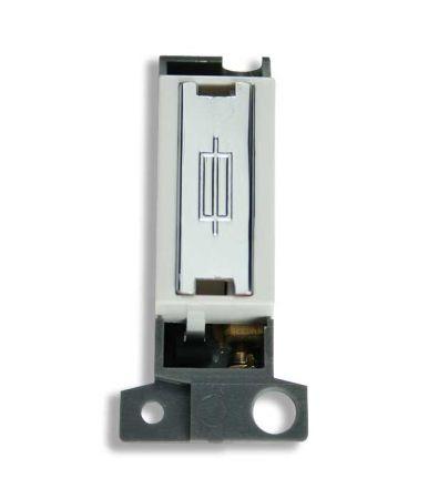 Ingot Fused Connection Unit - White Polished Chrome