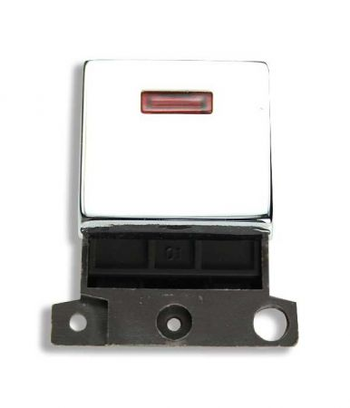 Ingot 20a DP Twin Switch With Neon - Polished Chrome