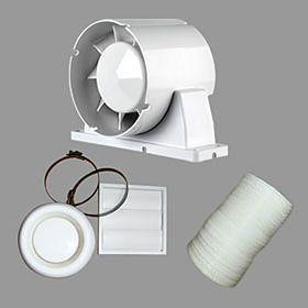 Airflow Aura 100mm Inline Fan Shower Fan Kit 9041420