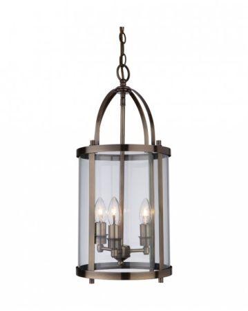 Firstlight 8301AB Imperial Pendant Lantern Antique Brass