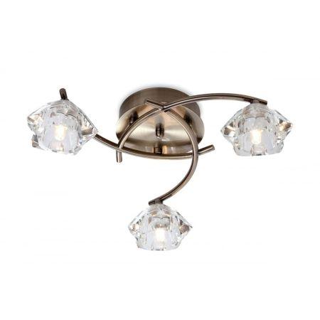 Firstlight 8364AB Clara Ceiling Light Antique Brass