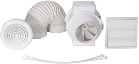 Airflow Aventa 100mm Shower Fan Kit with Timer | 9041407