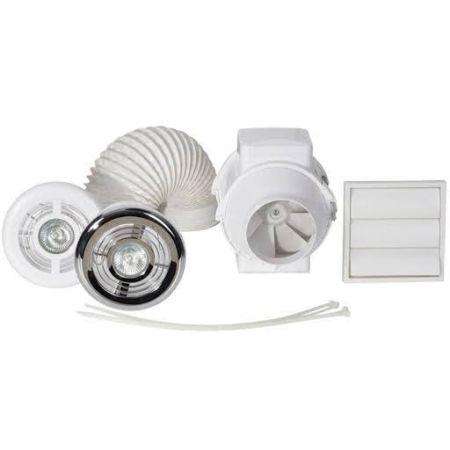 Airflow Aventa 100mm Shower Light Fan Kit with Timer | 9041408