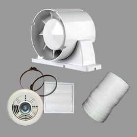 Airflow Aura 100mm Shower Fan Kit with Timer & LED Light 9041421