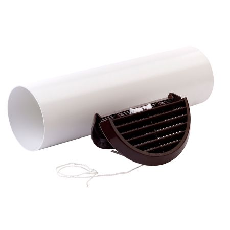 Xpelair SSWKBR Simply Silent 100mm Easy-Fit Wall Kit Round-Brown 92993AB