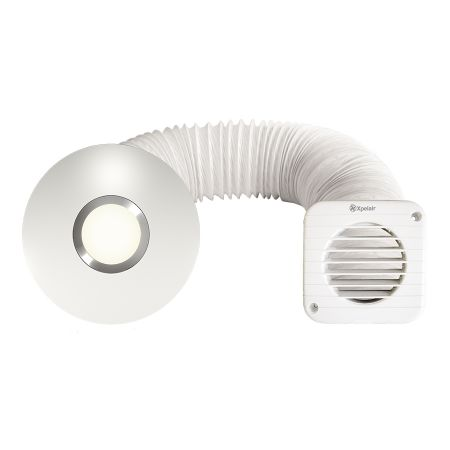 Xpelair SSISFC Simply Silent Illumi LED Shower Fan 93087AW