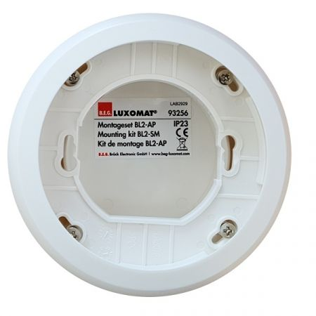 BEG 93256 SMK Surface Mounting Kit Circular White Box for Use with BL2-FC Occupancy Detector | 93256