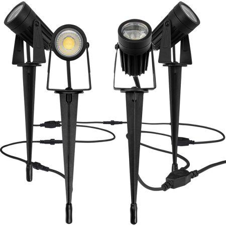 Luceco LED 12V Garden Spike Kit 4 Pack | LEXGSPK4P40