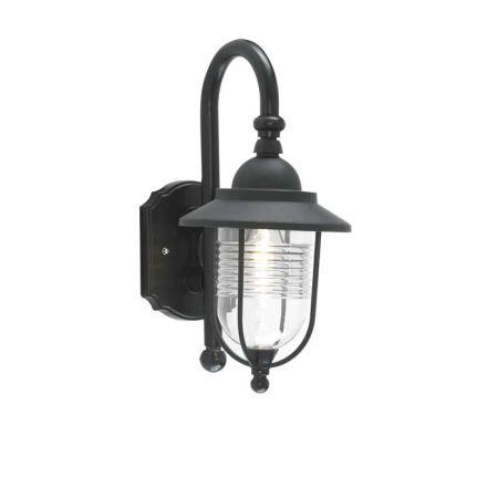 Zinc Eris Fishermans Black Wall Lantern ZN-20957-BLK