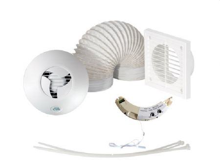 Airflow ICON15 Shower Fan Kit with Humidity Timer Module 90000433