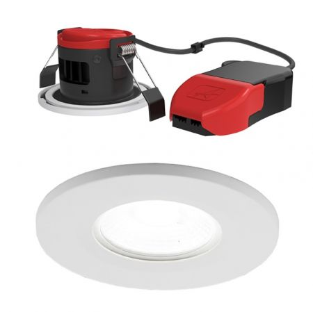 Ansell Prism Pro 6.4w LED Fire Rated Downlight 4000K Cool White | APRILEDP/CW