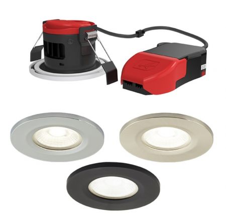Ansell Prism Pro 7w IP65 LED Fire Rated Downlight CCT Selectable | APRILEDP/CCT