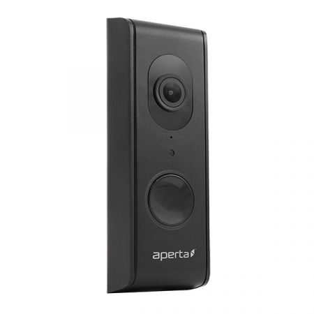 ESP Aperta Wired Wi-Fi Door Station with Record Facility Black | APWIFIDSBLK2