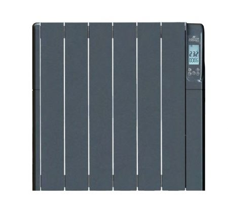 Ascot G-Series Thermo-Fluid 1000W 6 Element Electric Heater Graphite | ASCOTG1000WF