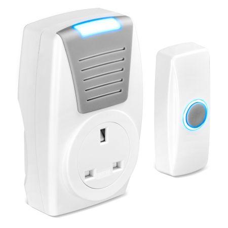 Masterplug Wireless 100m Plug-Through Door Chime | BDCPT100