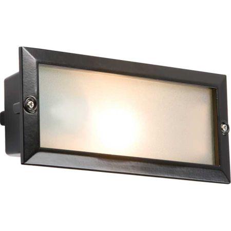 Knightsbridge E27 Brick Light c/w Plain and Louvred Black Cover BL01BK