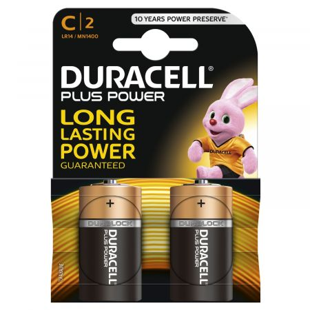 DURACELL Plus Power C type Battery Twin Pack