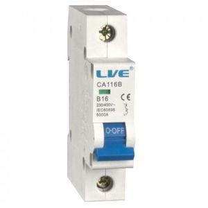 Live Electrical 25A Single Pole Type B MCB | CA125B