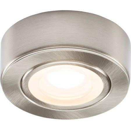 Knightsbridge CABBCWW Brushed Chrome 230v Under Cabinet Light 3000K Warm white