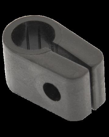 Q-Crimp Black 17.8mm Armoured Cable Cleats   QC7