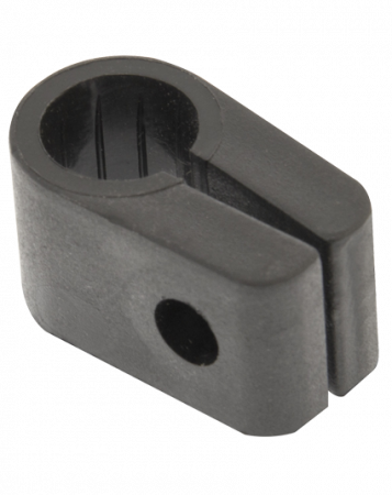 Q-Crimp Black 20.3mm Armoured Cable Cleats   QC8