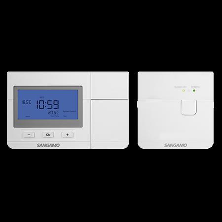Sangamo Choice+ Wireless 24 or 7 Day Programmable Room Thermostat | CHPRSTATDPRF