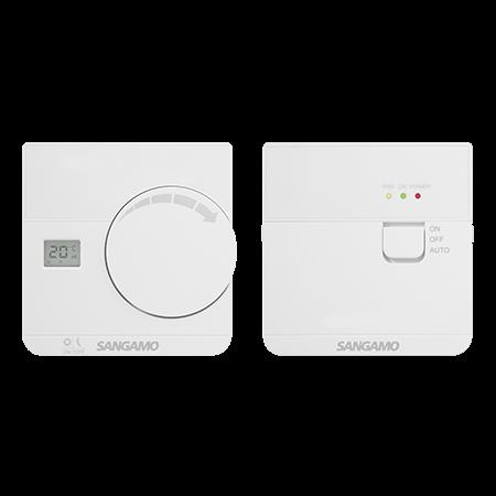 Sangamo Choice+ Wireless Thermostat with Digital Display | CHPRSTATDRF