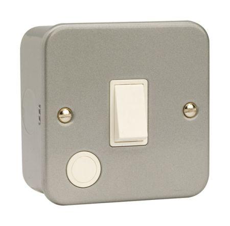 Click Essentials Metalclad 20a Double Pole Switch   CL022