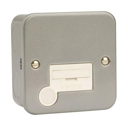 Click Essentials Metalclad 13A Fused Spur & Flex Outlet   CL050