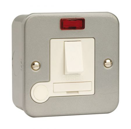 Click Essentials Metalclad Switched Fused Spur With Flex Outlet & Neon | CL052