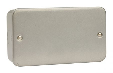 Click Essentials Metalclad Double Blank Plate   CL061