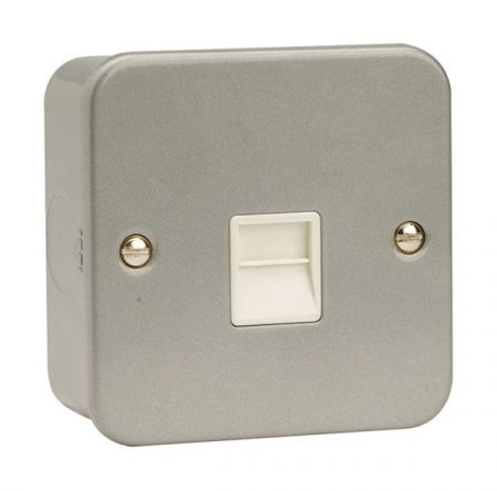 Click Essentials Metal Clad Single Master Telephone Outlet | CL120