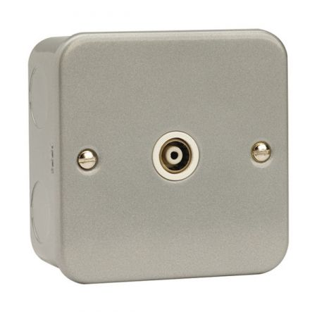 Click Essentials Metal Clad Single Isolated Coaxial Outlet | CL158