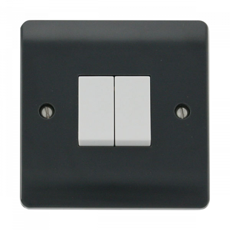 Click Mode Part M 2 Gang 2 Way Switch | CMA012AG