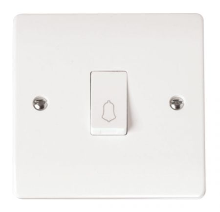 Click Mode 1 Gang 1 Way Retractive Bell Switch CMA027