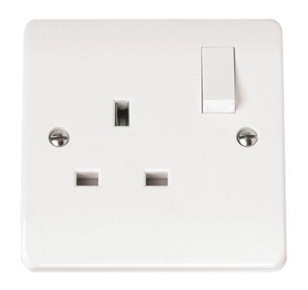 Click Mode 13a 1 Gang Single Socket CMA035