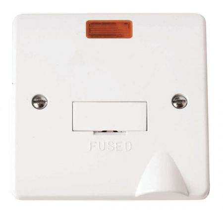 Click Mode 13a Unswitched Fused Connection Unit With Neon & Flex Outlet CMA053