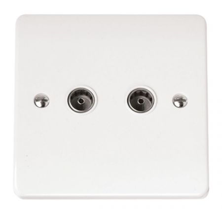 Click Mode Twin Coaxial Socket Outlet CMA066
