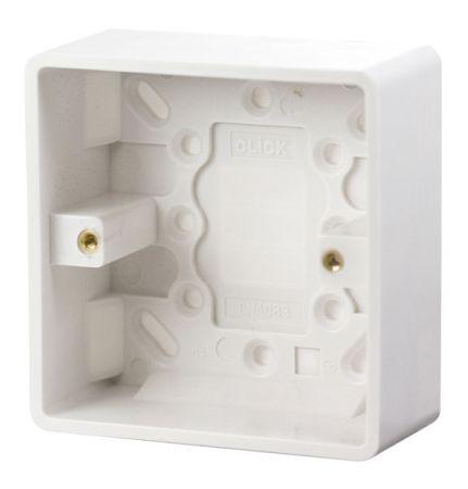 Click Mode 1 Gang 35mm Deep Pattress Box CMA083