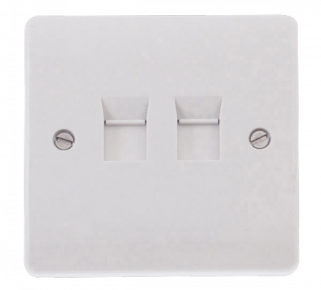 Click Mode Twin RJ45 Cat-5e Outlet White | CMA132